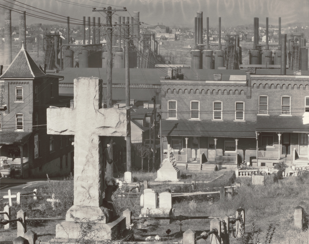 Graveyard, Houses and Steel Mill, Bethlehem, Pennsylvania