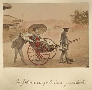 A Japanese girl in a jurikisha