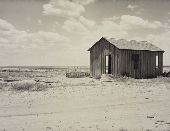 Abandoned Dust Bowl Home; Dorothea Lange (American, 1895 - 1965); about 1935 - 1940; Gelatin silver print; 18.9 x 24.4 cm (7 7/16 x 9 5/8 in.); 2000.50.12